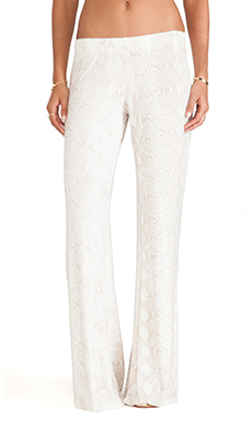 Michael Lauren Jax Wide Leg Pant in Desert Snake