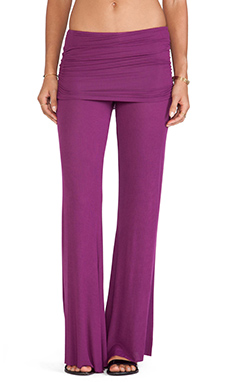 Michael Lauren Costa Bell Pant in Purple Plum