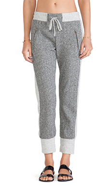 Michael Lauren Bowie Sweatpant in Heather Grey