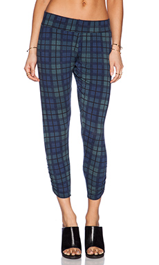 Michael Lauren Pablo Pant in Blue Plaid