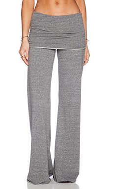Michael Lauren Costa Fold Over Bell Pant in Heather Grey