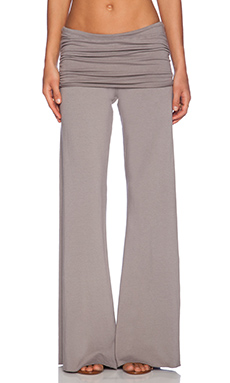 Michael Lauren Costa Fold Over Bell Pant in Lead