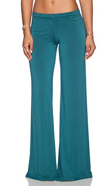 Michael Lauren Derby Wide Leg Pant in Dark Turquoise