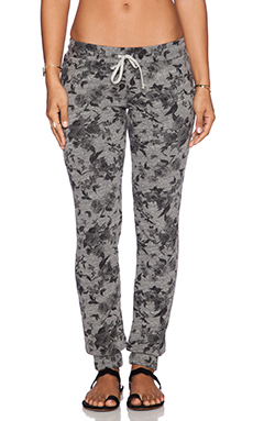 Michael Lauren Chet Sweatpants in Heather Grey Flower