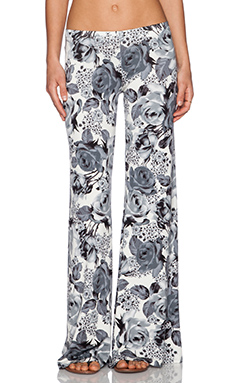Michael Lauren Derby Wide Leg Pant in Charcoal Flower
