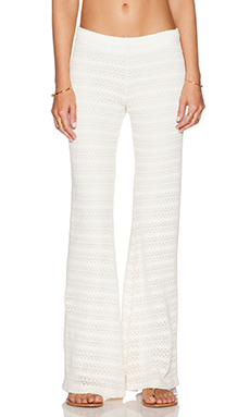 Michael Lauren Derby Wide Leg Pant in Natural
