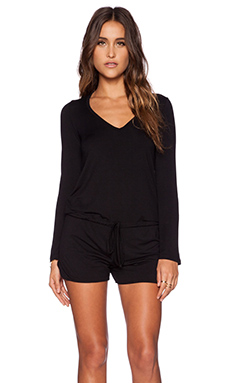 Michael Lauren Nelson Romper in Black