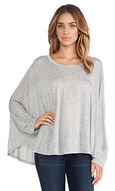 Michael Lauren Felix Oversized Cape Tee in Heather Grey