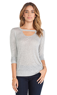Michael Lauren Roger Long Sleeve in Heather Grey