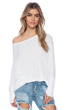 Michael Lauren Branson Draped Top in White