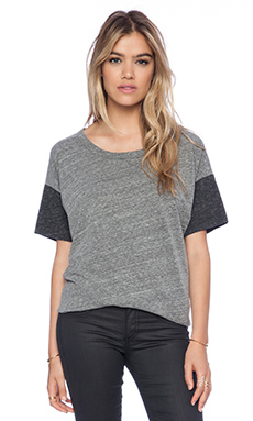 Michael Lauren Harry Tee in Heather Grey & Charcoal