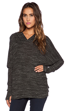 Michael Lauren Adrian Oversized Hoodie Tee in Heather Charcoal