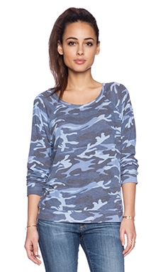Michael Lauren Kenny Pullover in Blue Camo