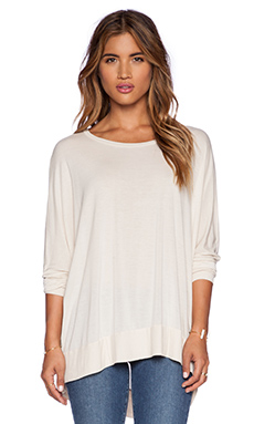 Michael Lauren Fred Long Sleeve Tee in Silk