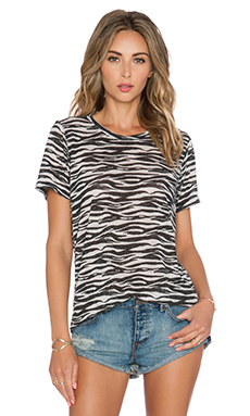 Michael Lauren Dragon Vintage Tee in Zebra
