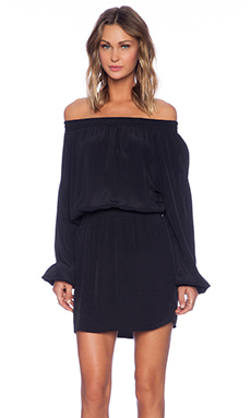 MLM Label Align Off The Shoulder Dress in Black