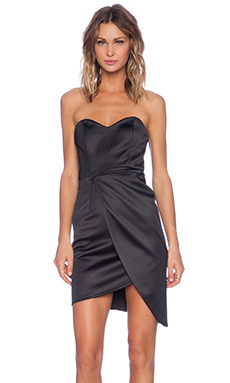 MLM Label Tulip Wrap Dress in Black
