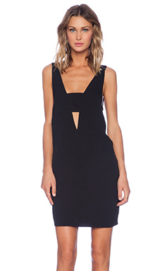 MLM Label Bandeau V Dress in Black