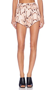 MLM Label Bonded Shorts in Digital Snake