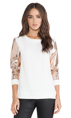 MLM Label Storm Sweater in Ivory & Rose Gold
