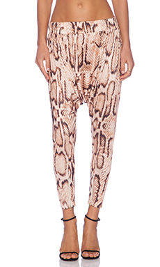 MLM Label Drape Harem Pant in Digital Snake