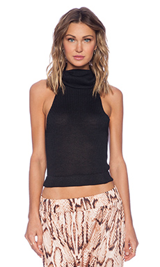 MLM Label Bounty Knit Crop in Black