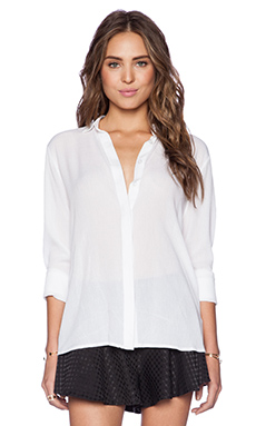 MLM Label Open Back Shirt in White