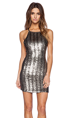MLV Molly Sequin Dress in Pewter