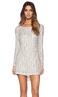 MLV Tyler Sequin Dress in Ivory