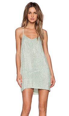MLV Carmen Sequin Dress in Green
