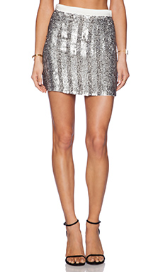 MLV June Sequin Skirt in Pewter