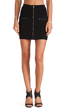 MLV Pippa Rib Knit Skirt in Black