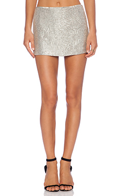 MLV Bobbi Sequin Skirt in Pewter