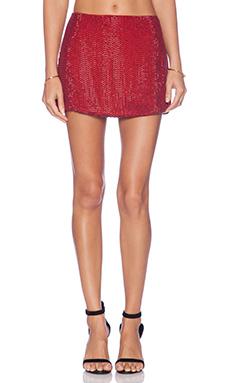 MLV Bobbi Sequin Mini Skirt in Red