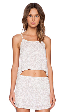 MLV Clyde Sequin Top in Ivory