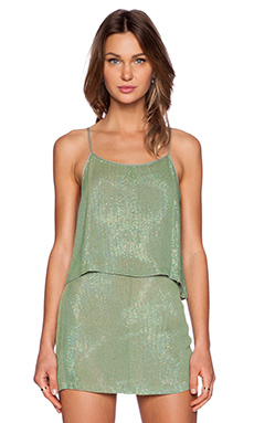 MLV Clyde Sequin Top in Olive