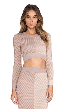 MARA ARGYLE CROP TOP