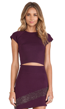 MLV Kim Crop Top in Purple