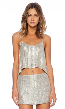 MLV Whitney Sequin Top in Pewter