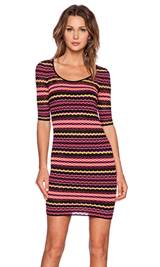 M Missoni Scoop Body Con Dress in Pink