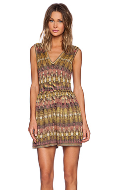 M Missoni Tie Dye Knit Romper in Yellow