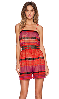 M Missoni Thin Strap Romper in Red