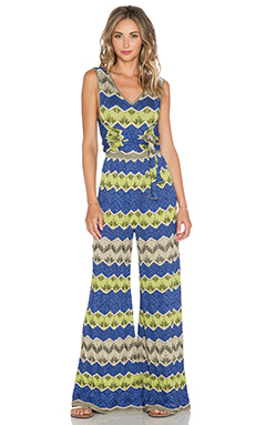 M Missoni Lurex Zig Zag Jumpsuit in Royal