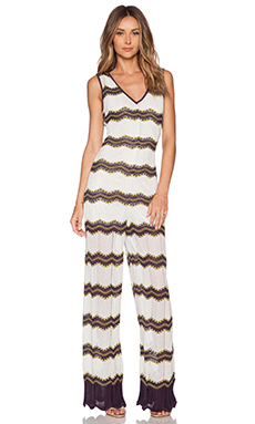 M Missoni Zig Zag Jumpsuit in Eggplant