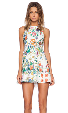 Minty Meets Munt Instant Crush Dress in White Botanica Print