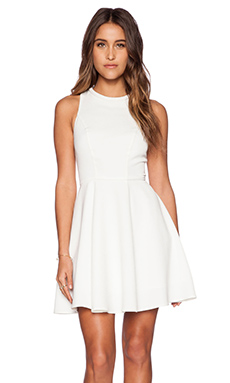 Minty Meets Munt Instant Crush Dress in White Brocade