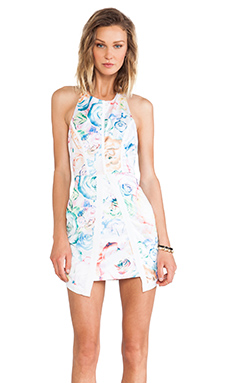 Minty Meets Munt Vera Mini Dress in Neon Rose