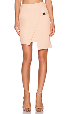 Minty Meets Munt Angular Wrap Skirt in Apricot