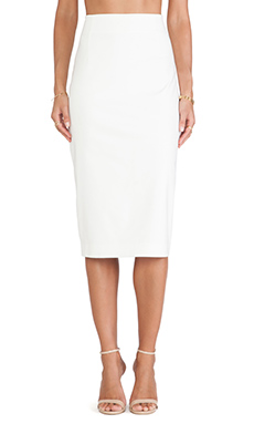 Minty Meets Munt Pencil Skirt in Winter White