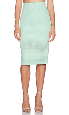 Minty Meets Munt Legacy Midi Skirt in Honeydew